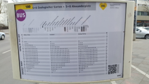 BVG Bus 100 schedule