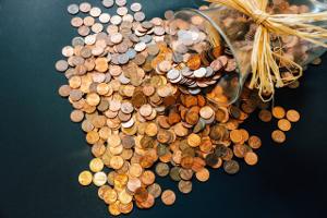Bankkonto Münzen